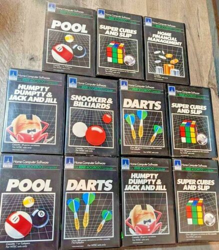 Lot of 11 Atari 400 800 Computer Cassette Games Software Complete in Boxes !