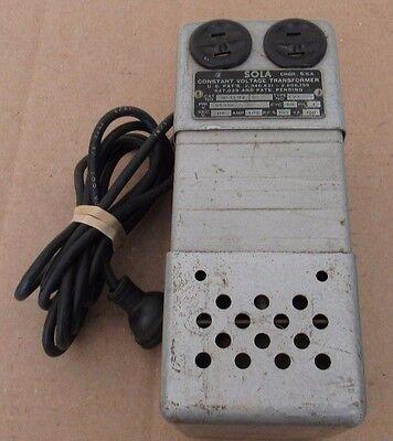 Sola Constant Voltage Transformer Cat No. 20-13-112 Type No. Cv-1