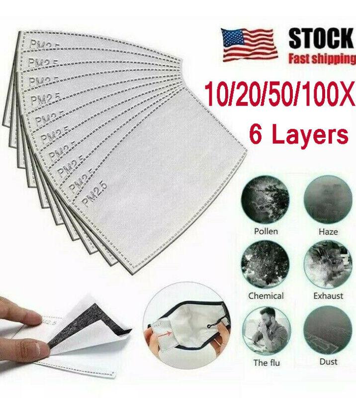 10/20/50/100PCS  PM2.5 Activated Carbon Filter Replaceable Anti Haze