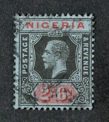 NIGERIA, KGV, 1914, 2s.6d. black & red/blue value, SG 9, used condition, Cat £7.