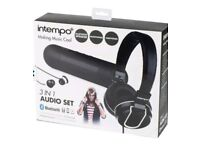 Intempo Audio Set includes earphones, headphones and a bluetooth speaker.