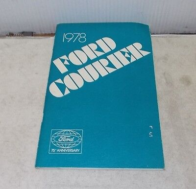 1978 FORD COURIER OWNERS GUIDE