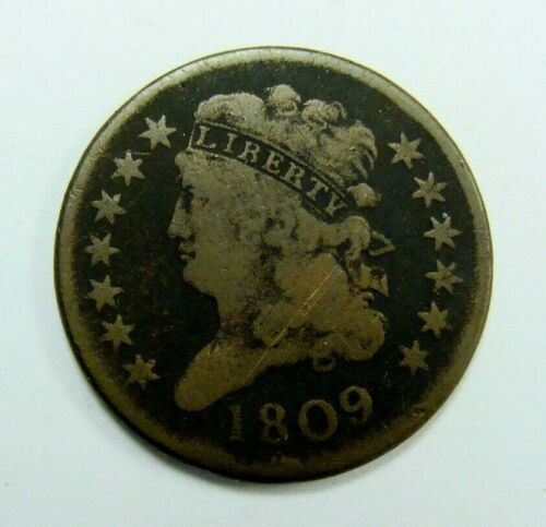 1809 CLASSIC HEAD HALF CENT NICE TYPE COIN