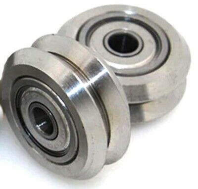 Linear Motion Guide Way 5x24.5x5.6mm V Groove Steel Track Roller Bearing