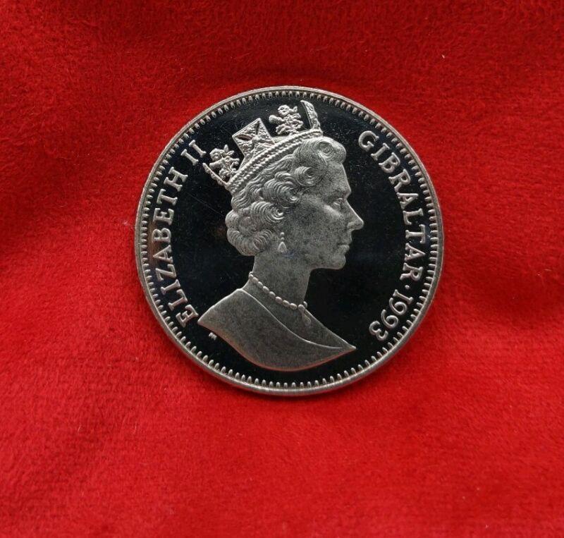 """1993, Gibraltar Crown, """"International Friendship Poland"""" General Sikorski Coin"""