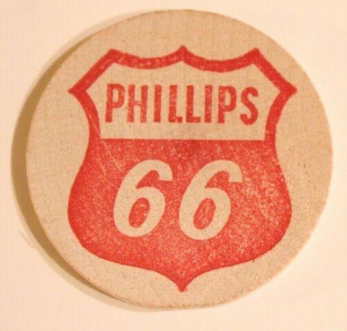 Vintage Wooden Nickel Phillips 66 Old Wooden Buck