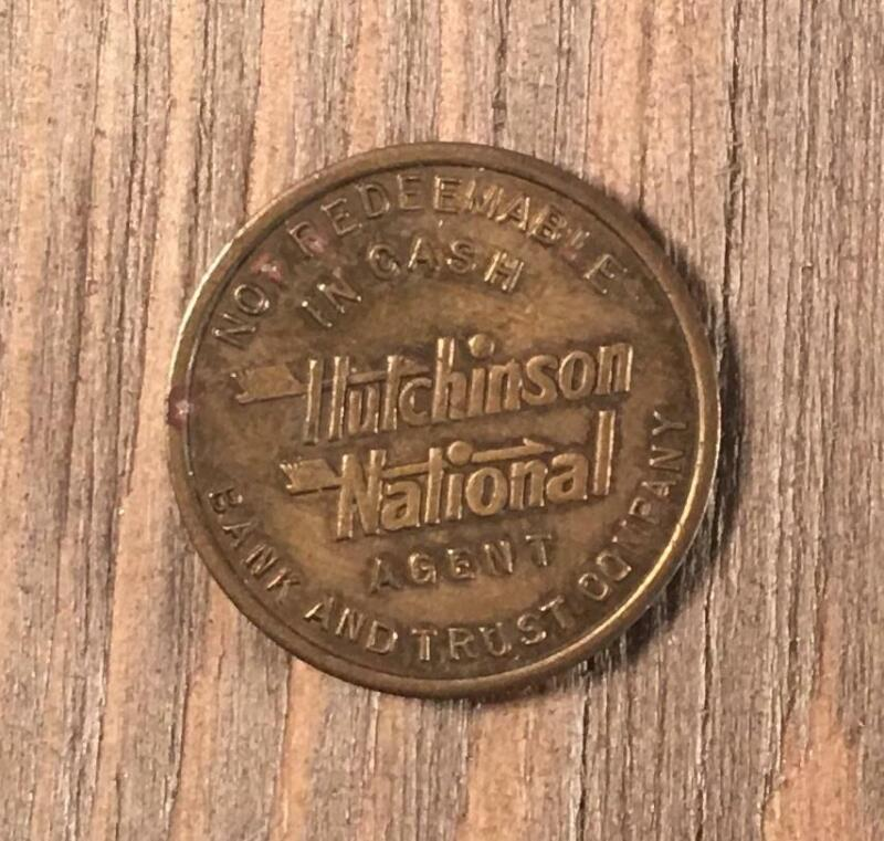 Vintage Hutchinson National Bank & Trust Company Parking Token Coin