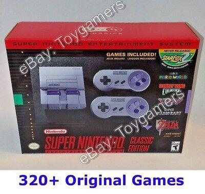 Wonderful Nintendo Classic Mini Edition SNES System - Super NES - 320 Games -  New