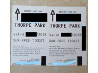 2x tickets to THORPE PARK for Thursday 19th July (last few days before Holidays)