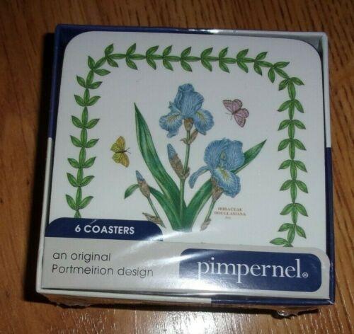 Pimpernel Portmeirion Botanic Garden Coasters set of 6 Cork Backed NEW