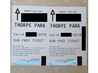 2x Thorpe Park tickets for Thursday 20th September (Weekday = Empty Park)
