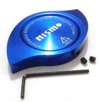Blue Aluminum NISMO Emblem Radiator Protection Cover Decoration Universal