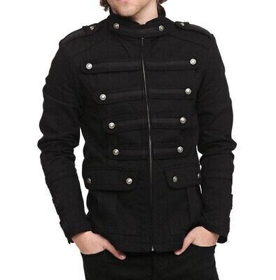 Militärische Taktik Männer Steampunk Gothic Jacke Button Mäntel Outwear Kostüm