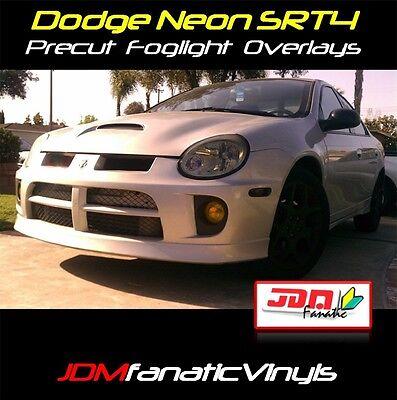 03 04 05 Jdm Dodge Neon Srt4 Yellow Fog Light Overlays Vinyl Wrap Cover Tint Srt