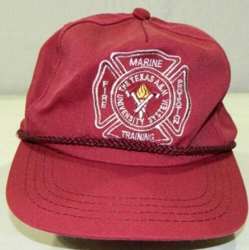 Vintage Texas A&M Marine Fire Protection Training maroon snapback hat cap