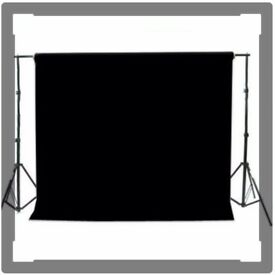 1xArctic White & 1x Black seamless background, 2.72m x 1m - used once each.