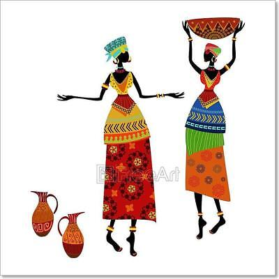 - Beautiful African Woman In Traditional Art Print Home Decor Wall Art Poster - C