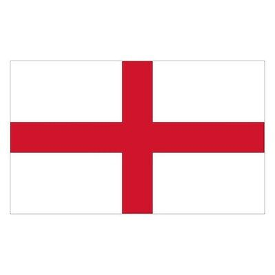 ST GEORGE CROSS ENGLAND FANS 5 X 3 FLAG DECORATION PREMIUM QUALITY WITH EYELET
