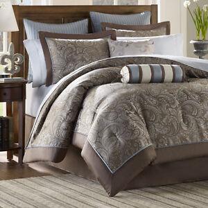 12 piece luxury paisley bedding bed comforter set queen king cal king