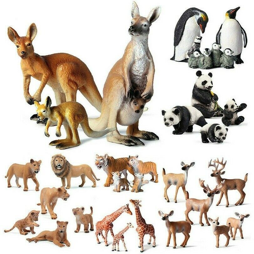 Wildlife Animal Figure Toy Kangaroo Family Model Animal Kids Learning Toy