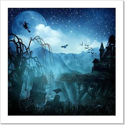 Abstract Halloween Backgrounds For Art Print Home Decor Wall Art Poster - H - Home For Halloween