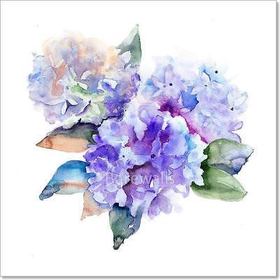 Beautiful Hydrangea Blue Flowers Art Print Home Decor Wall Art Poster - D