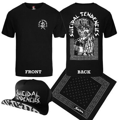 SUICIDAL TENDENCIES - Official EXCLUSIVE ONE FINGER T-Shirt Hat Bandana COMBO ! - Hat T Shirt