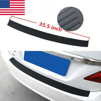 Car Accessories 4D Rubber Stickers Car Trunk Guard Plate Sticker Moulding Trim