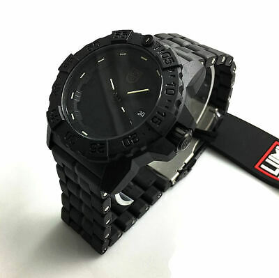 Men's Luminox Navy SEAL Trident Diver's Blackout Watch 3502.BO