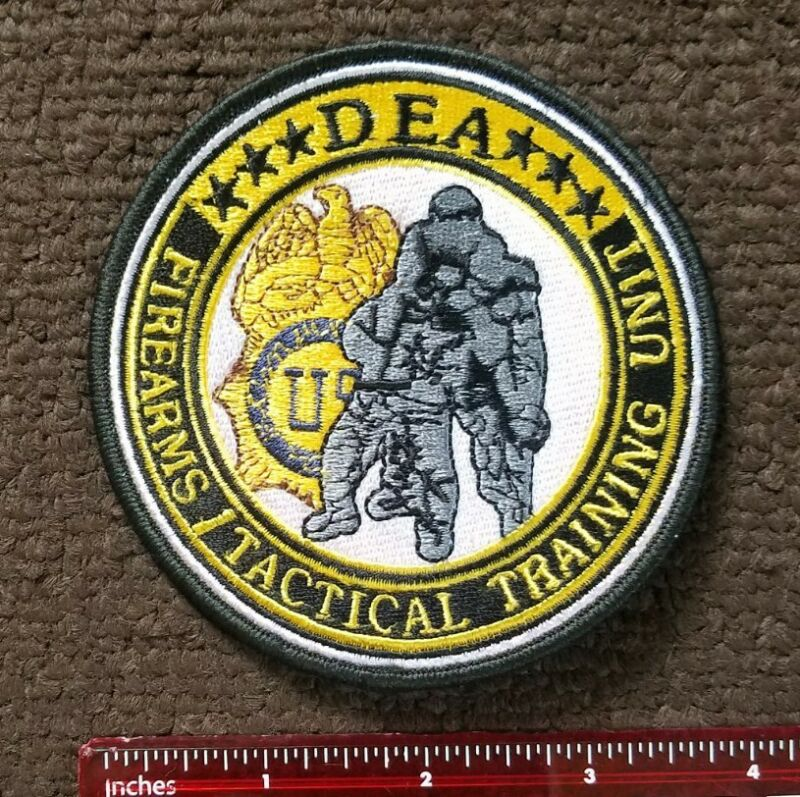 DEA FIREARMS TACTICAL TRAINING UNIT POLICE CIA NSA PATCH DRUG ENFORCEMENT POLICE