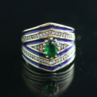 Turkish Handmade Jewelry Sterling Silver 925 Emerald Ring t 7 8 9