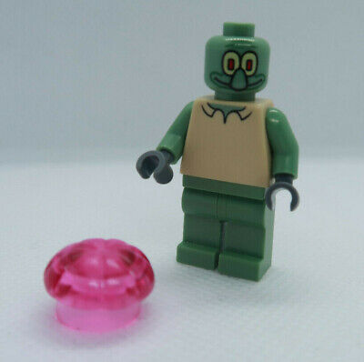 Squidward 3827 W/ Jellyfish Spongebob Squarepants LEGO Minifigure Mini Figure