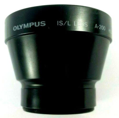 Olympus Lens A-200 IS/L HQ Converter 1.5X  49mm W/ Covers & Case