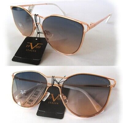 New Versace 19V69 Carmella Sunglasses Rose Gold/Blue-Brown white handle-defected