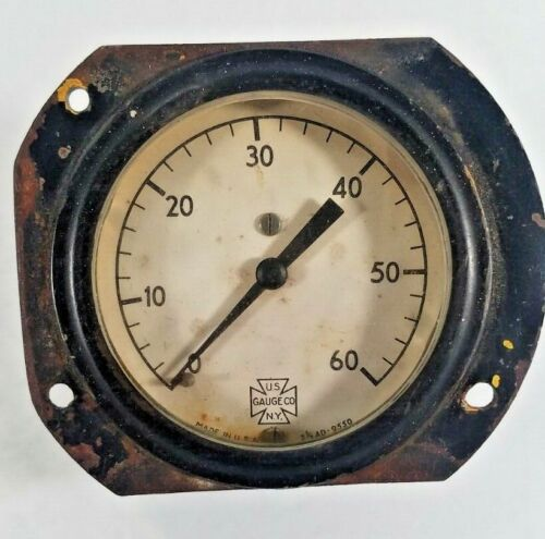 Antique Vintage US Gauge Co. Industrial Steam Gauge Steampunk