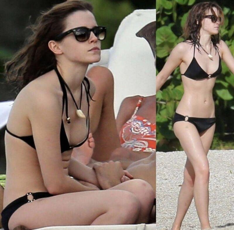Emma Watson - In A Black Bikini !!!