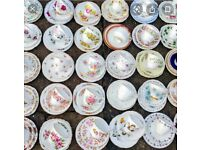 Vintage China cups, saucers & spoons needed for dog rescue