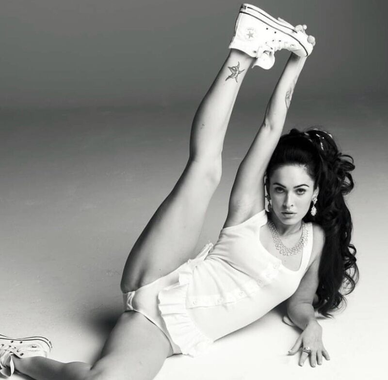 Megan Fox - In A White Sexy Outfit And Exercising !!??