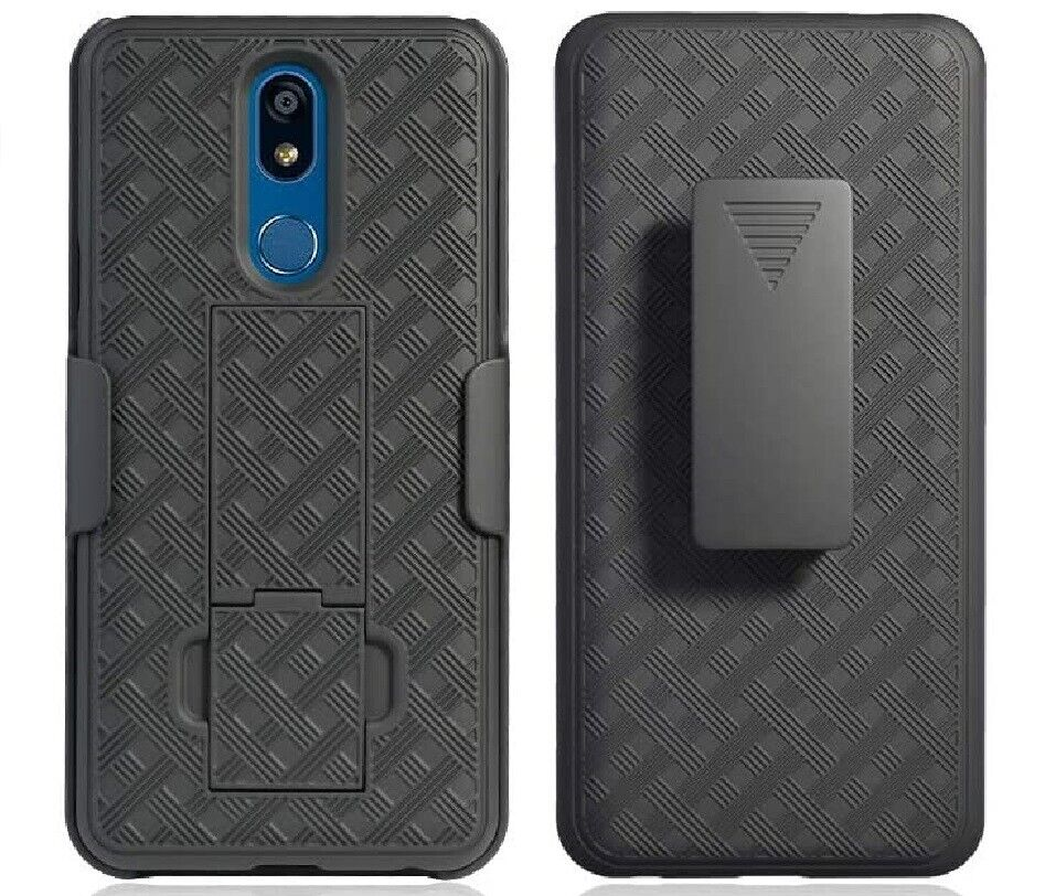 LG Aristo 4+ Belt Clip Holster Combo Armor Cell Phone Case W