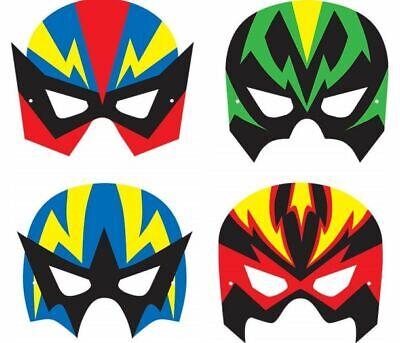 BOYS SUPER HERO DRESS UP FOAM MASKS - FANCY DRESS PARTY BAG FILLER FACE - Foam Superhero Mask