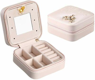 Portable Jewelry Travel Case - Earring Ring Necklace Accessory Organizer Box