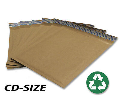 Size Cd 7.25x7 Recycled Natural Brown Kraft Bubble Mailer Usa Made