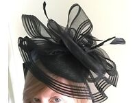 Black M&S fascinator Brand new with tags