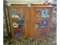 vintage china cabinets - lovely original condition