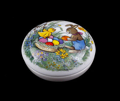 Lid Can Easter bunny Chicken Screen printing Kämmer-Porcelain  a3-88115
