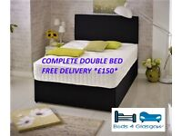 Complete double bed with **FREE DELIVERY**