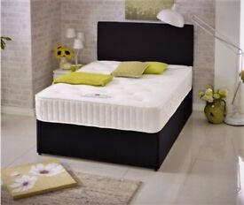 🔥💥SAME DAY DELIVERY🔥💥 BRAND NEW 4FT/ 4FT6 DOUBLE or 5FT King Divan Bed w Memory Foam Mattress