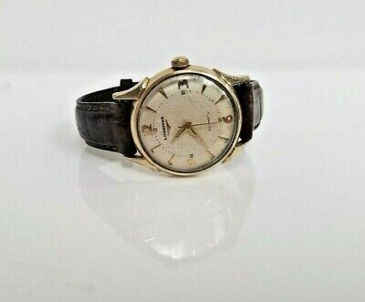 Vintage Mens Longines Wittnauer Automatic Watch 17J * 10K Gold Filled * 19AS *