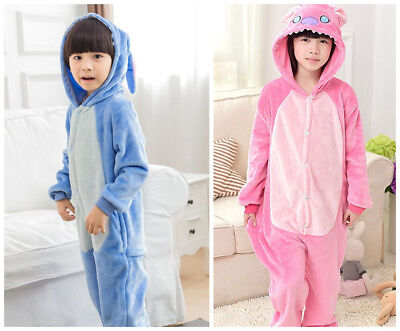 Stich Unicorn Kids Kigurumi Animal Cosplay Costume Onesie01 Pajamas Sleepwear