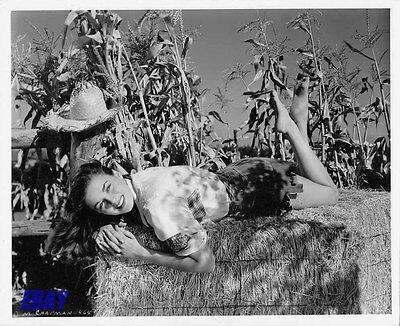 Marguerite Chapman leggy barefoot VINTAGE Photo Halloween